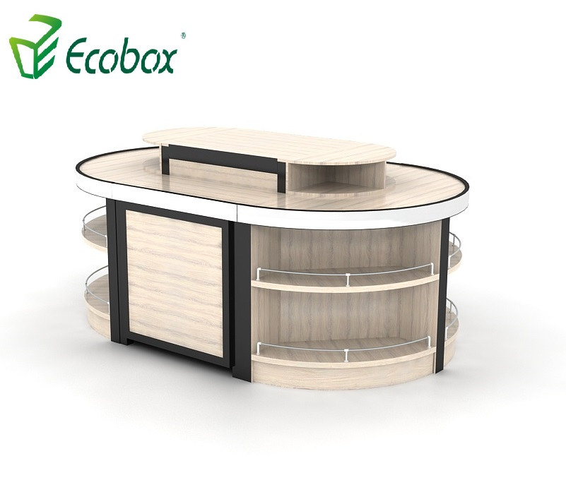 Ecobox GMG-002 Steel Wooden supermarket cabinets island shelf rack displays