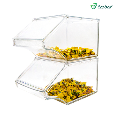 Ecobox SPH-058 Supermarket stackable Bulk bin for bulk food and candy