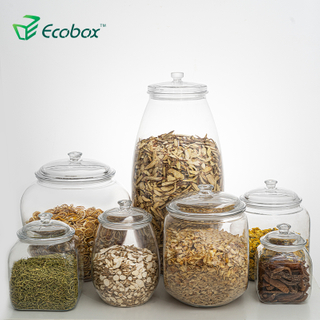 Ecobox FB200 FB250 airtight round candy jar fish tank herbs can nuts storage box